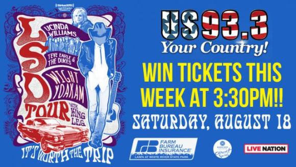 Lucinda Williams, Steve Earle and The Dukes & Dwight Yoakam at Meadow Brook Amphitheatre