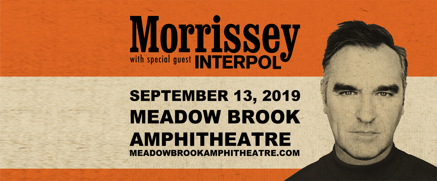 Morrissey & Interpol at Meadow Brook Amphitheatre