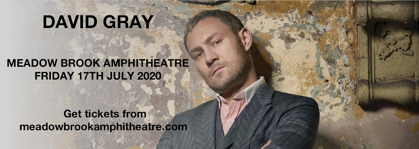 David Gray [CANCELLED] at Meadow Brook Amphitheatre