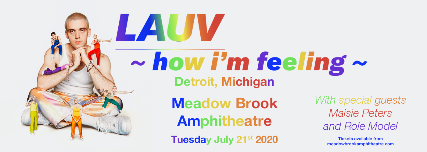 Lauv [CANCELLED] at Meadow Brook Amphitheatre